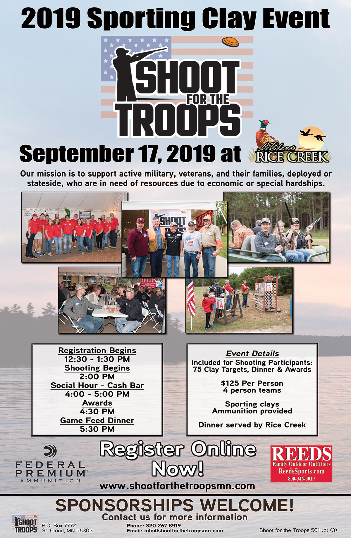 Shoot For The Troops 2019 Flyer